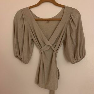 Only Hearts silver wrap top